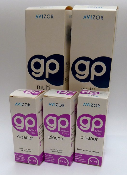 Avizor gp System cleaner 3x30ml + Avizor gp multi 2x240ml