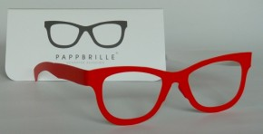 Pappbrille Classic red