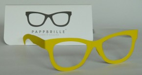 Pappbrille Classic yellow