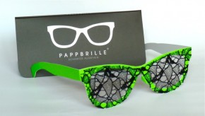 Pappbrille Grünes Gift