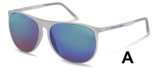 PORSCHE Design Porsche Design Sonnenbrille » P8596«, blau, D - blau/silber