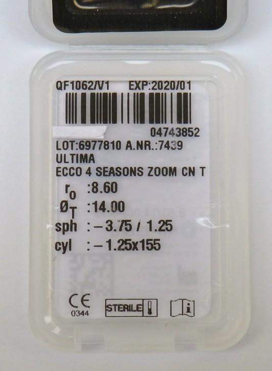 MPGE ECCO soft 4 seasons zoom T  (toric)- 1Linse