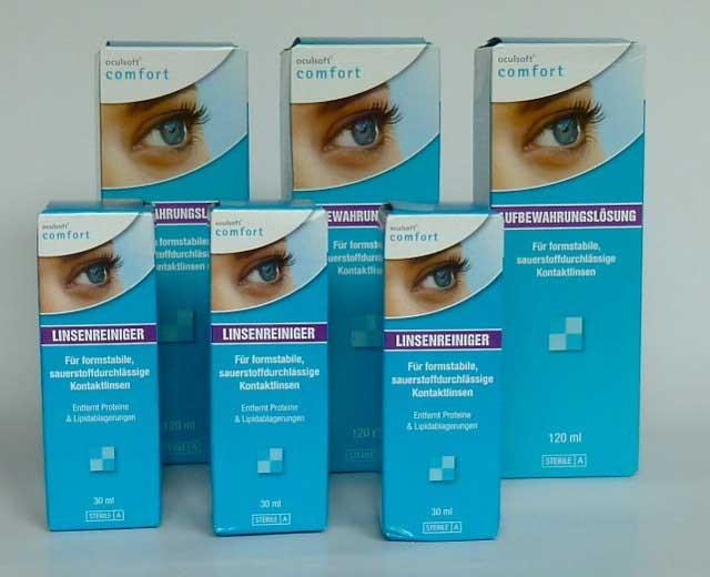 oculsoft® comfort Reiniger  3x30ml + Aufbewahrung 3x120ml