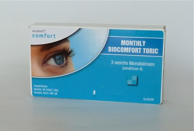 oculsoft comfort MONTHLY BIOCOMFORT TORIC - 3er Box