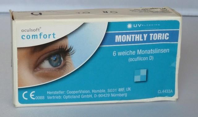 oculsoft comfort MONTHLY TORIC  - 6er Box