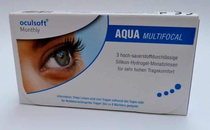 oculsoft Monthly AQUA MULTIFOCAL - 3er Box