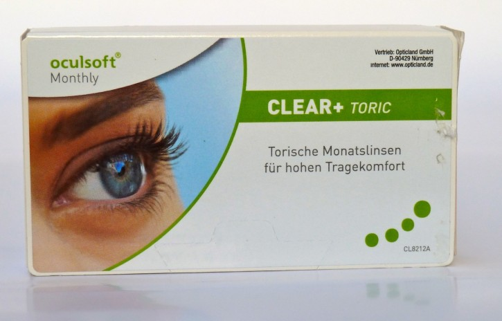 oculsoft Monthly clear plus toric - 3er Box