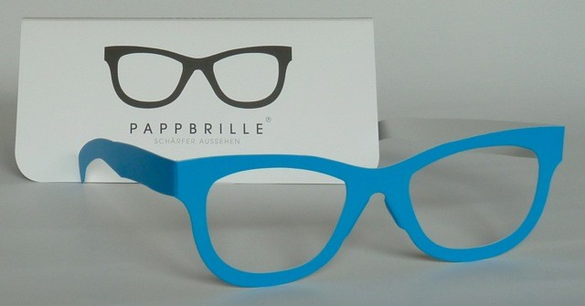 Pappbrille Classic blue