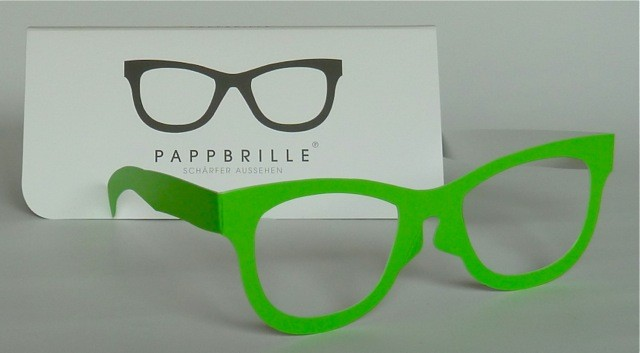 Pappbrille Classic green