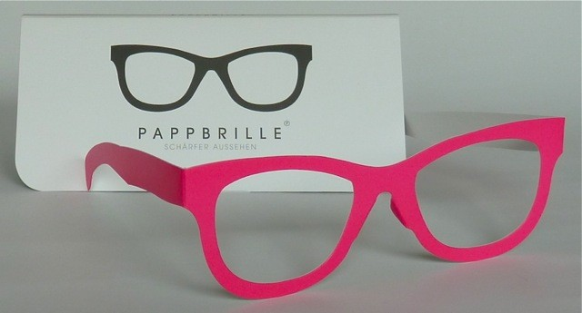 Pappbrille Classic pink