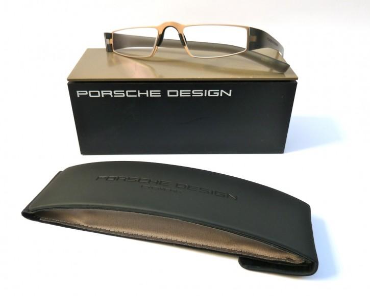 PORSCHE DESIGN® Lesebrille 8801 Q gold-grau