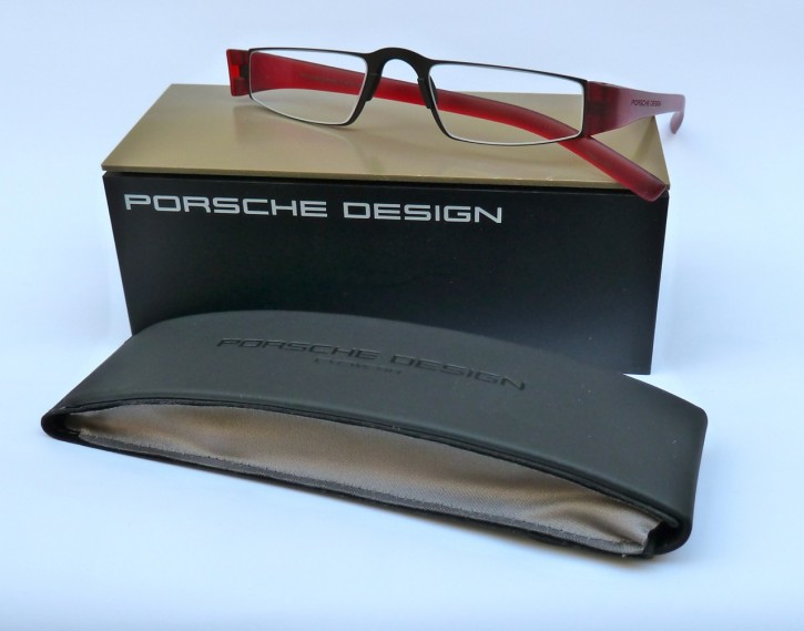 PORSCHE DESIGN® Fertiglesebrille 8801 B schwarz-rot