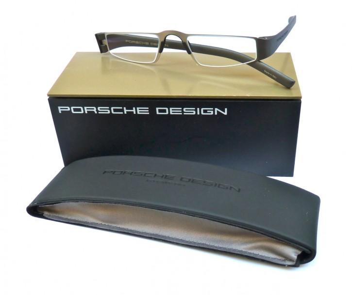 PORSCHE DESIGN® Fertiglesebrille 8801 F silber-anthrazit