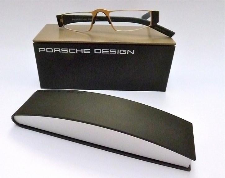 PORSCHE DESIGN® Fertiglesebrille 8801 G gold-schwarz
