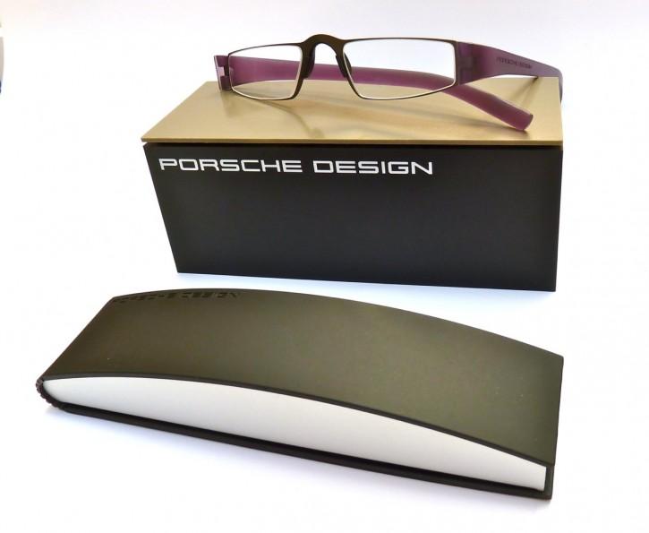 PORSCHE DESIGN® Fertiglesebrille 8801 H aubergine-anthrazit