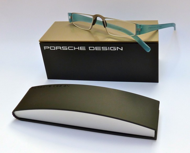 PORSCHE DESIGN® Fertiglesebrille 8801 I aquamarin silber