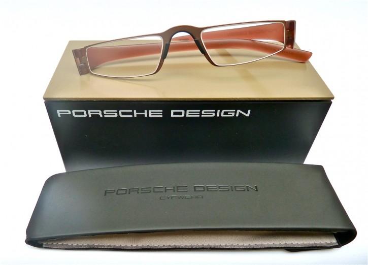 PORSCHE DESIGN® Lesebrille 8801 R hellbraun- rotbraun