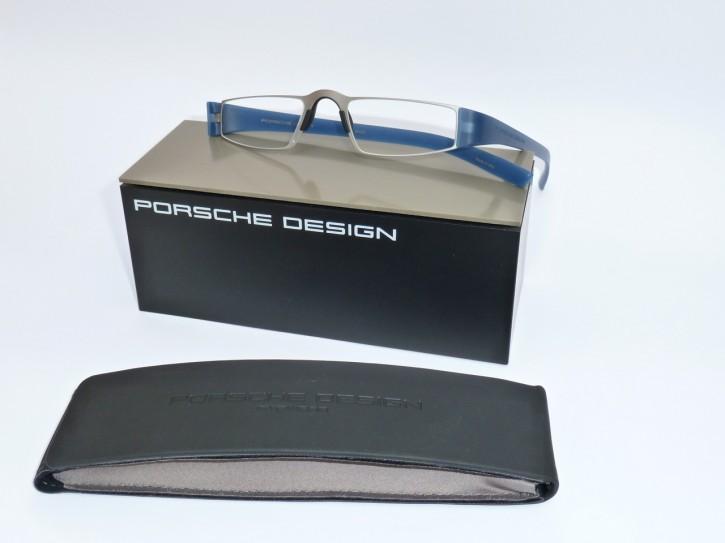 PORSCHE DESIGN® Fertiglesebrille 8801 N taubenblau silber