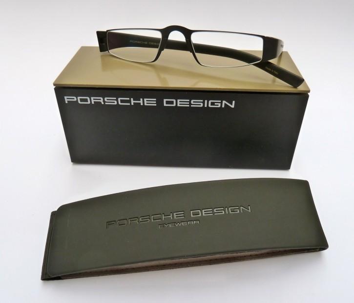 PORSCHE DESIGN® Lesebrille p8801 matt schwarz individuelle Glas Stärke